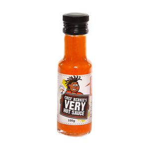 Very Hot Chilli Sauce - 100% Natural - Vegan - Gluten Free & Dairy Free - No Added Sugar 100g Bottle - Chef Bernie's