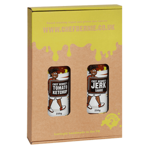 Jerk Sauce & Tomato Ketchup Twin Pack - 100% Natural, Gluten Free and Dairy Free 2 x 250g - Chef Bernie's