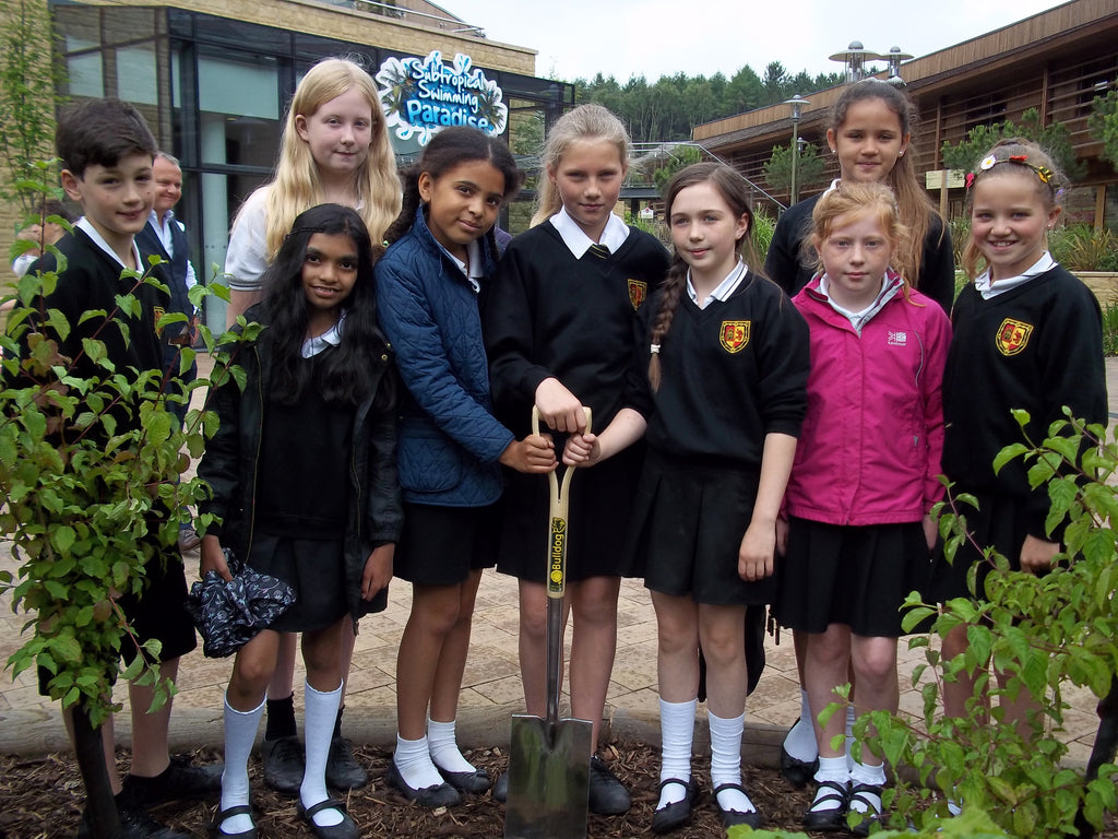 Alameda Middle School planted time capsule at Center Parcs Woburn Forest