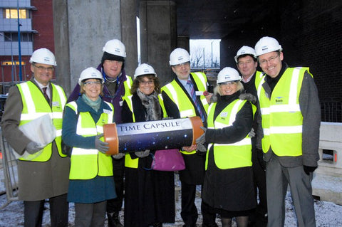 Building contractor Bovis Lend Lease completion Birmingham Ormiston Academy - Time Capsules UK
