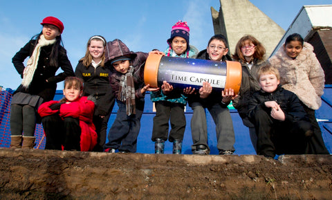 Pupils from Cranstonhill Nursery and Anderston Primary - Time Capsules UK