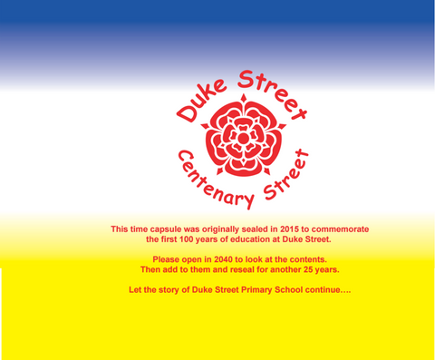 Duke Street Primary School custom wrap Time Capsules UK