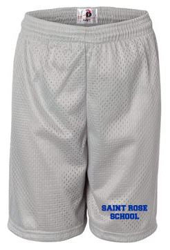 St. Rose Youth Gym Shorts Silver