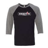 Deet's BBQ - Bella + Canvas 3/4 Sleeve Baseball Tee (3200)