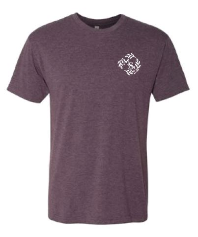 Main Street Salon & Spa Unisex Tee - Vintage Purple