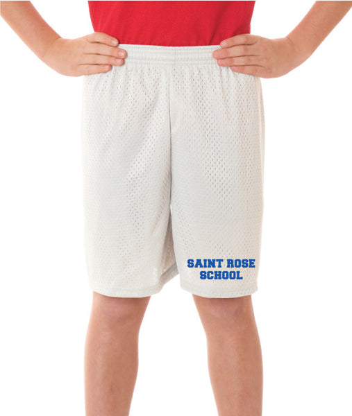 St. Rose Adult Gym Shorts Silver