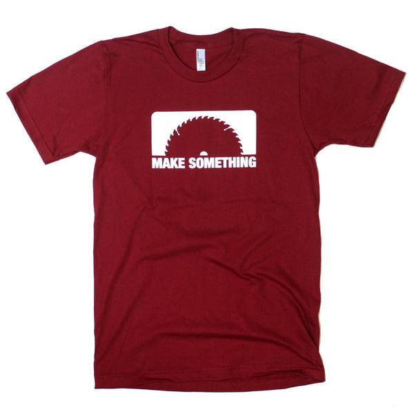 Make Something T-Shirt (Blade/Cranberry)