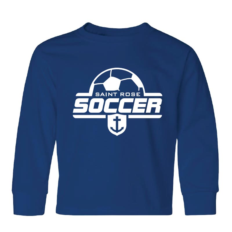 Saint Rose Soccer Youth Long Sleeve Shirt - STRATH1