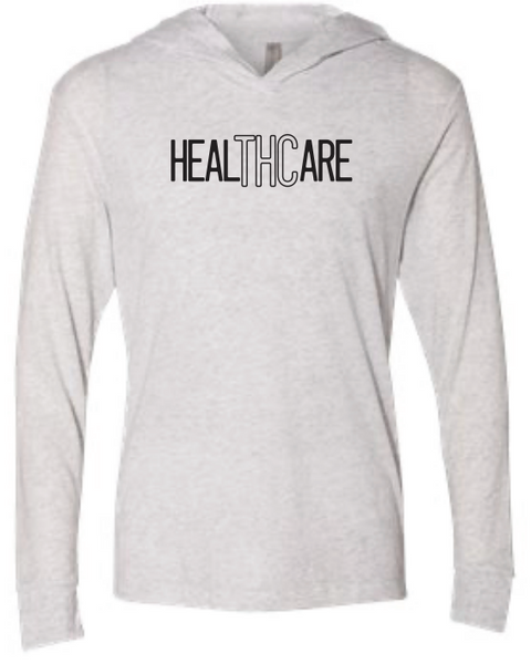 LJW - HealTHCare Womens White Lightweight Hoodie