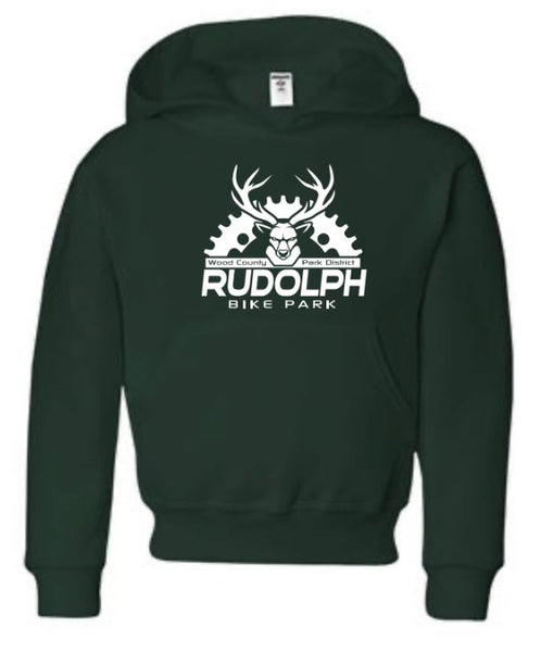 WCPD Rudolph Bike Park Youth Hoodie - Forest Green