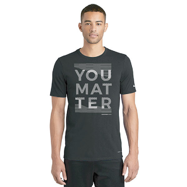 You Matter Running Shirt - Black