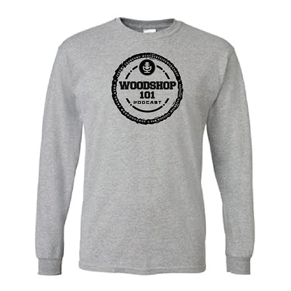 WS101 - Unisex Adult Grey Long Sleeve Tee