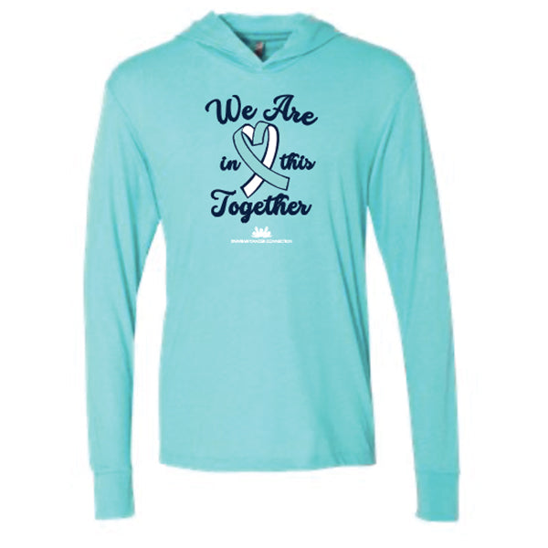Ovarian Cancer Connection - Adult Hooded Long-Sleeve Pullover (6021)