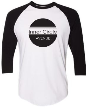 ICA - Adult Unisex Black/White Raglan