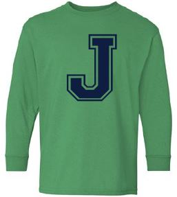 Johnstone - Youth Unisex Letter Long Sleeve