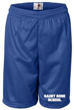 St. Rose Youth Gym Shorts Royal