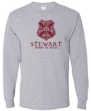 Stewart - Adult Unisex Crest Long Sleeve