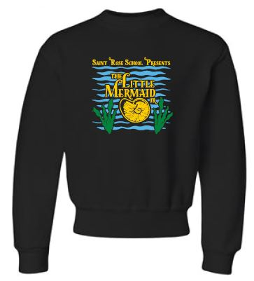 TLMJR CAST ONLY - Youth Unisex Black Crewneck - WITH PERSONALIZATION