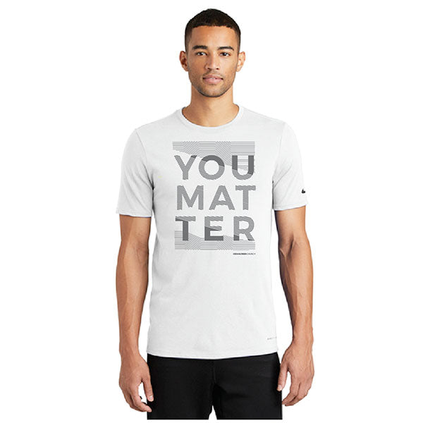 You Matter Running Shirt - White