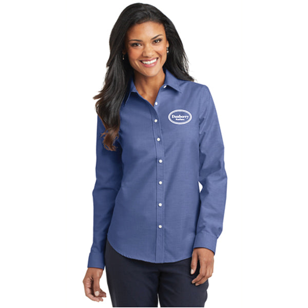Port Authority® Ladies SuperPro™ Oxford Shirt (Danberry Realtors) - L658