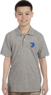 St. Rose Youth School Polo - Grey