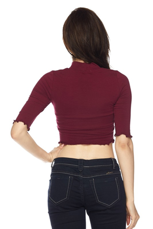 Merrow Edge Crop Top