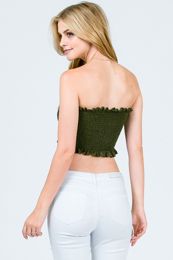 Lettuce Smocking Tube Top