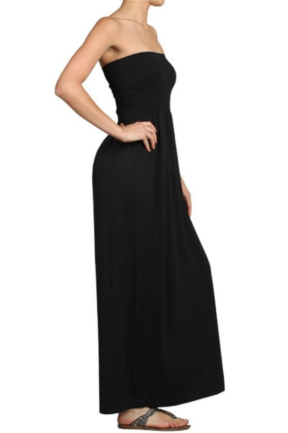 Seamless Strapless Maxi Dress