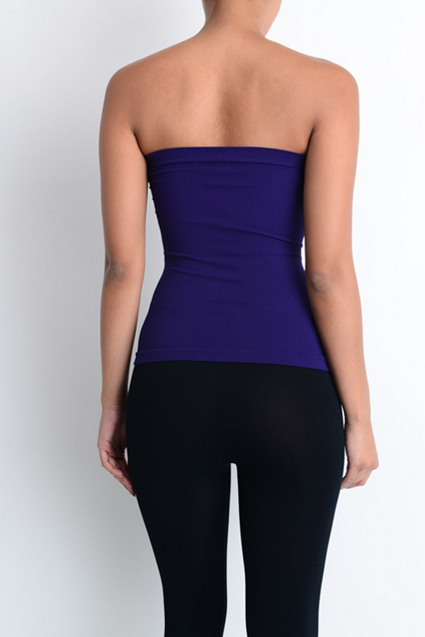 Purple Ruched Tube Top