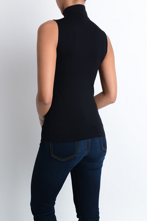 Mocked Neck Sleeveless - Clearance