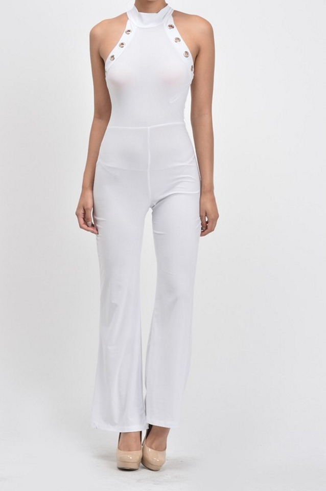 Eyelet Jumpsuit - Clearance