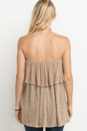 Layered Strapless Tunic