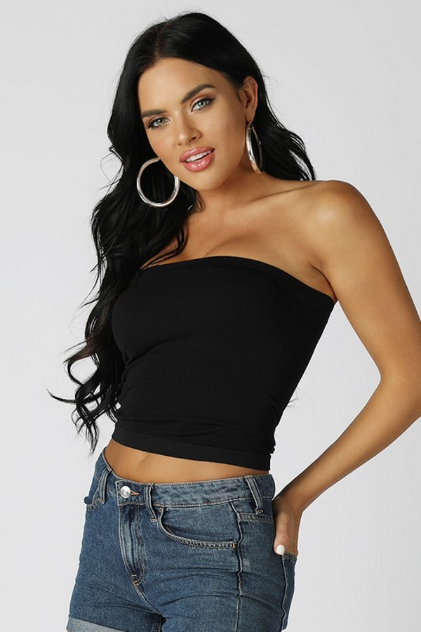 black crop top side