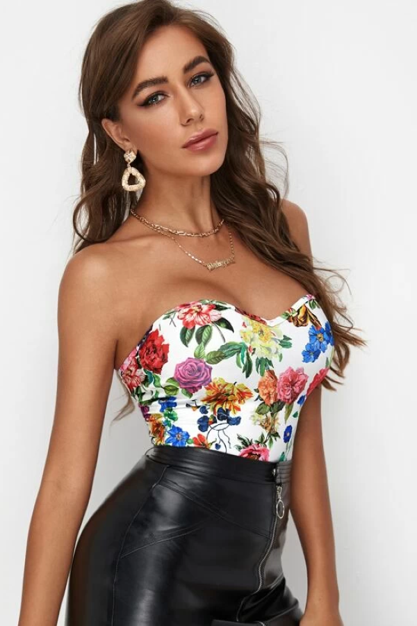 Ciara Floral Tube Top