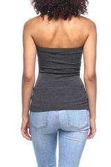 Ribbed Rayon Tube Top