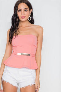Coral Peplum - Final Sale!
