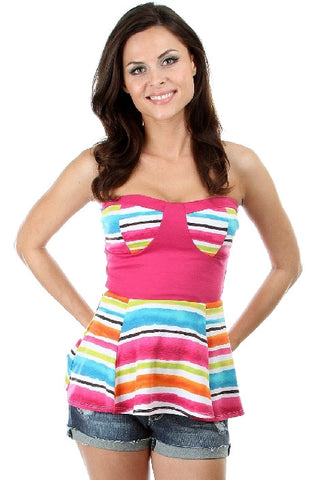 Multi Colored Peplum - Final Sale!