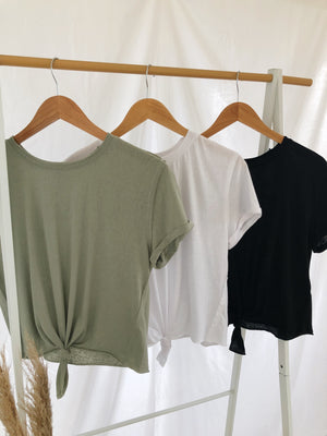 Basic Front Knot Tee