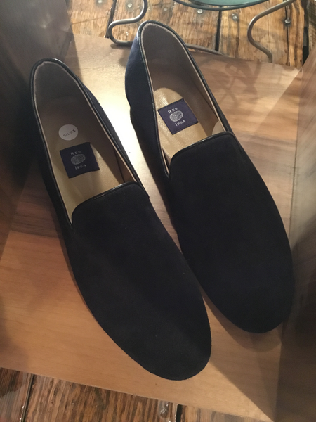 Ipsa Black Suede Loafers