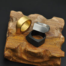 Load image into Gallery viewer, Stålring, ring laget av stål, smykker for menn, gave til ham, tøff ring, unisex ring