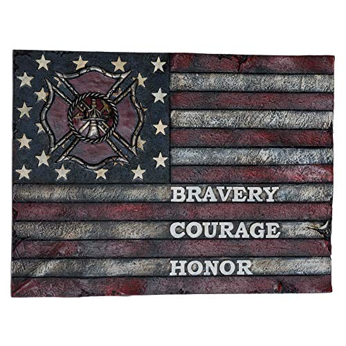 Bravery Courage Honor America Wall Decor - American Flag Decorations for Home Wall Decorations for Man Cave - Military Office Decor Patriotic Decorations for Men - American Wall Art Plaques Decor