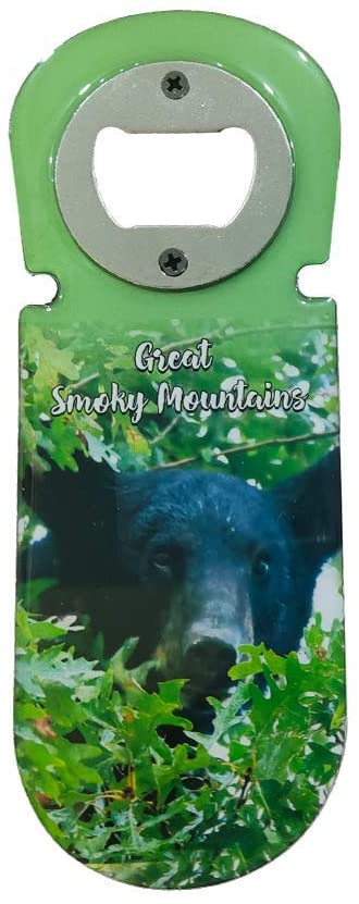 Great Smoky Mountains Bottle Opener - Black Bear Beer Bottle Opener Magnet - Cool Bottle Opener Wine Gifts and Accessories - Kitchen Gifts for Men and Women