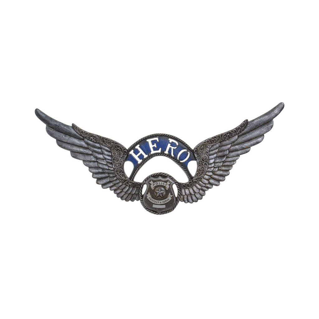 Fire Department Emblem Hero Wings Plaque