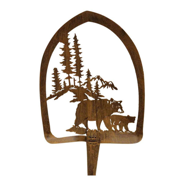 Bear & Cub Metal Shovel Wall Hanging - 30
