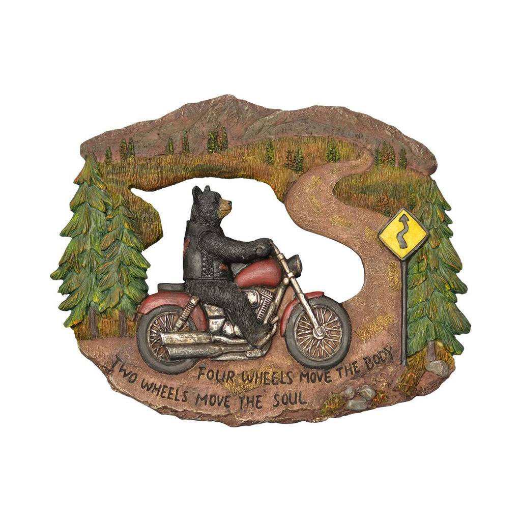Bear Motorcycle Wall Plaque