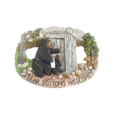 Bear Bottoms Welcome Plaque