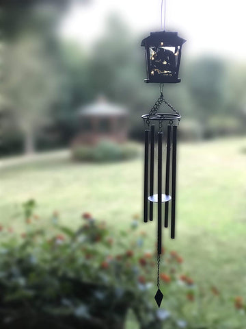 Black Bear Decorative Wind Chimes - Garden Wind Chimes Outdoor