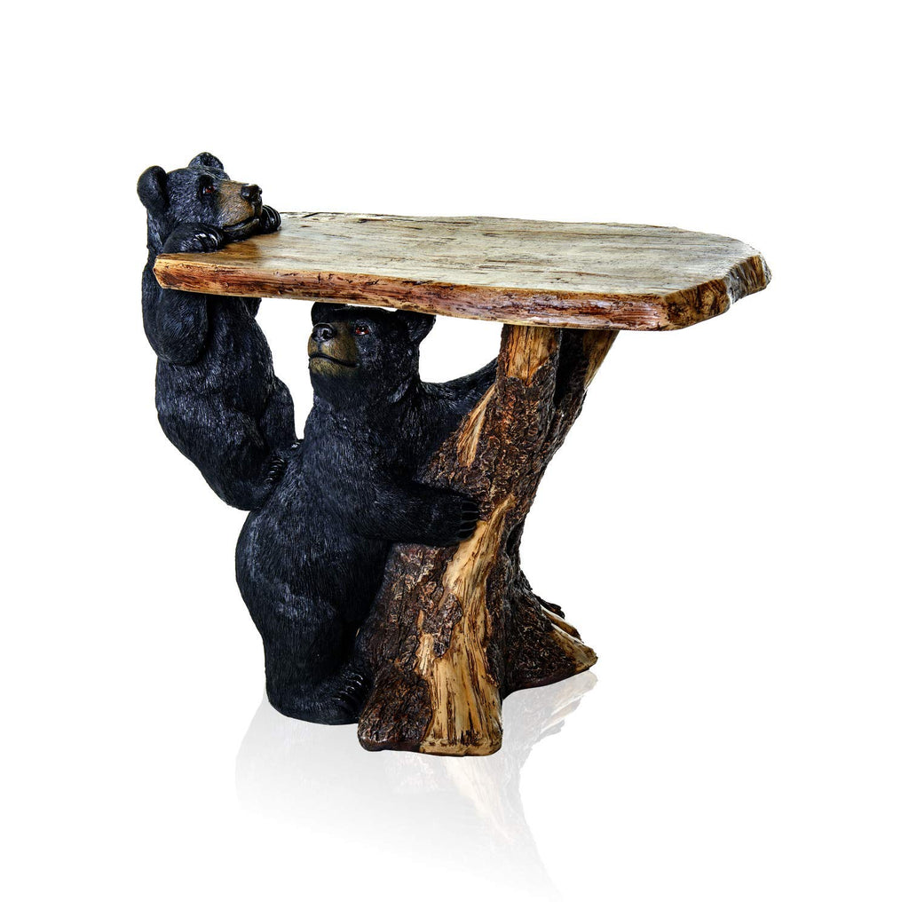 Pine Ridge Black Bear Coffee Table for Home Office - Bear Decoration Home  Desk Table for Indoor Outdoor Cabin Kitchen Decor