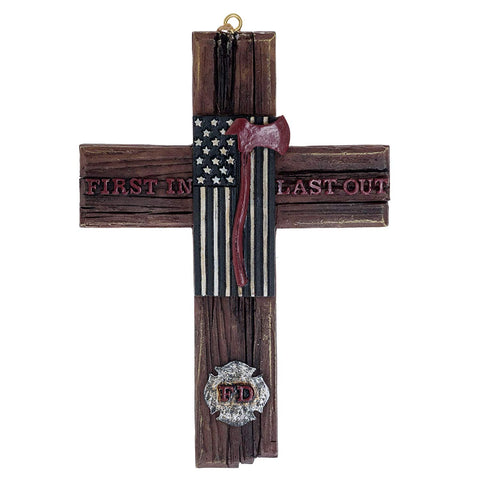 4 X 6 Firemen Flag Cross