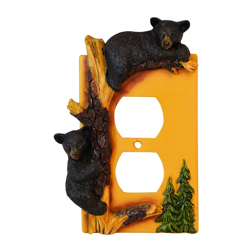 Black Bear Outlet Cover Home Decor